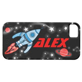Name 4 letter rocket space black iphone case