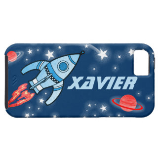 Name 6 letter rocket space blue iphone 5 case