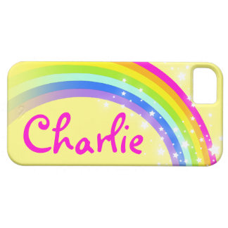 Name 7 letter rainbow yellow iphone case