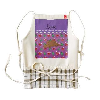 Name aardvark purple candy canes christmas trees zazzle HEART apron