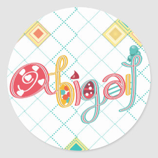 name Abigail Classic Round Sticker
