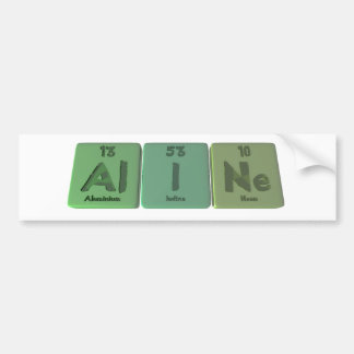 name-Aline-Al-I-Ne-Aluminium-Iodine-Neon Bumper Sticker
