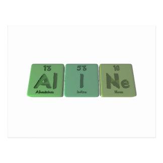 name-Aline-Al-I-Ne-Aluminium-Iodine-Neon Postcard