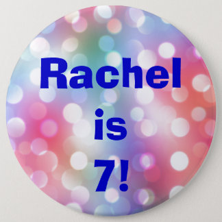 Name And Age Fun Birthday Button Pin
