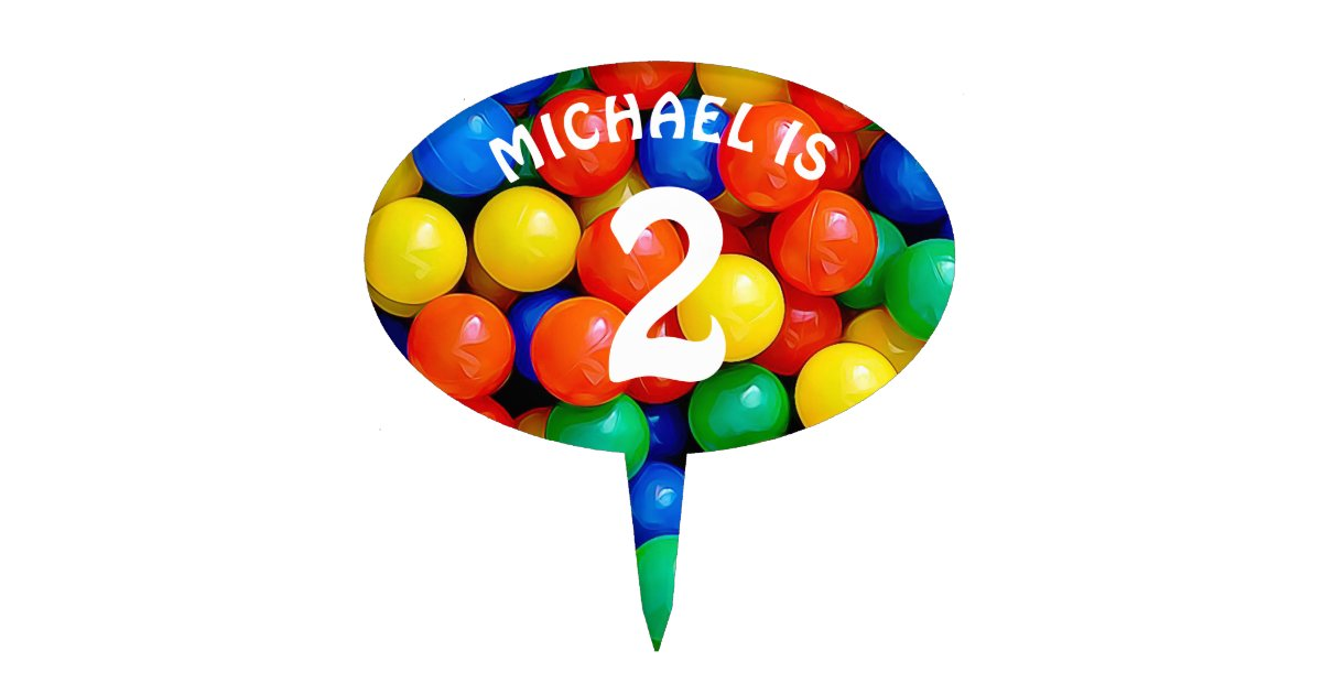 Incredible Name And Age Personalized Ball Pit Themed Birthday Cake Topper Funny Birthday Cards Online Inifodamsfinfo