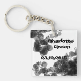 Name and important date key-ring keychain