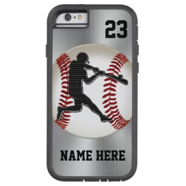 Christmas Themed NAME and NUMBER iPhone 6 Baseball Cases Tough