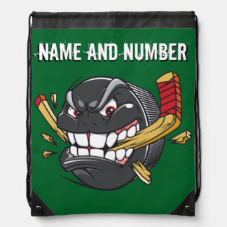 Name and Number on Cool Funny HOCKEY Backpacks