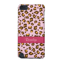 Name animal leopard print pink brown ipod case