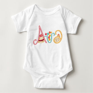 Name Ava Baby Bodysuit