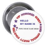 Name Badge USA Buttons