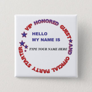 Name Badge USA - Not your everyday name badge Button