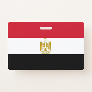 Name Badge with flag of Egypt