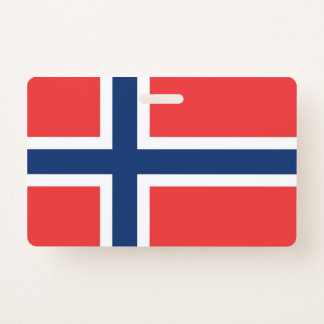 Name Badge with flag of Norway