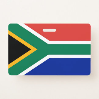 Name Badge with flag of South Africa