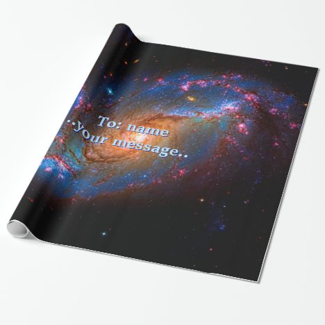 Name, Barred Spiral Galaxy NGC 1672 Wrapping Paper