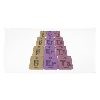 name-Berta-B-Er-Ta-Boron-Erbium-Tantalum Personalized Photo Card