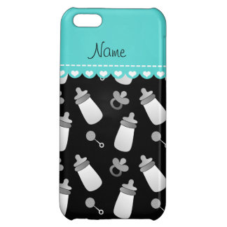 Name black baby bottle rattle pacifier iPhone 5C case