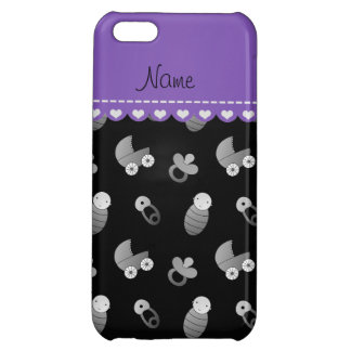 Name black baby pin carriage pacifier iPhone 5C cover