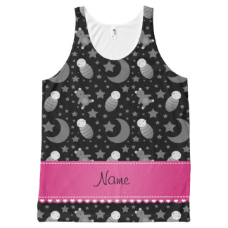 Name black baby teddy bear stars moons All-Over print tank top