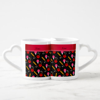 Name black cotton candy apples corn dogs couples' coffee mug set