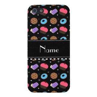 Name black cupcake donuts cake cookies iPhone 5/5S case
