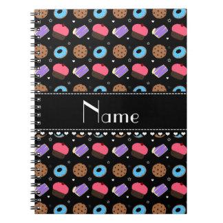 Name black cupcake donuts cake cookies notebook