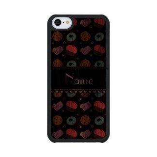 Name black cupcake donuts cake cookies carved® walnut iPhone 5C case