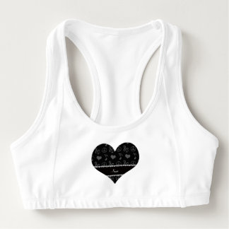 Name black music notes hearts peace sign sports bra