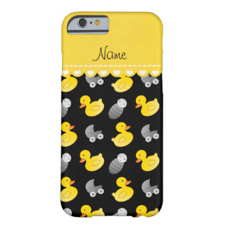 Name black rubberduck baby carriage barely there iPhone 6 case