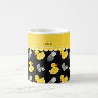 Name black rubberduck baby carriage coffee mug