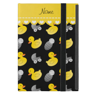 Name black rubberduck baby carriage iPad mini cover