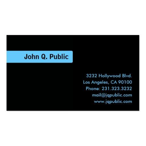 Name blue background plain black business card zazzle for Business card background black