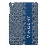 Name blue name tri-cubic patterned ipad mini cover for the iPad mini