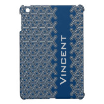 Name blue name tri-cubic patterned ipad mini iPad mini cover