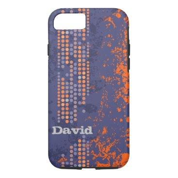 Beach Themed name blue orange surf style iphone case