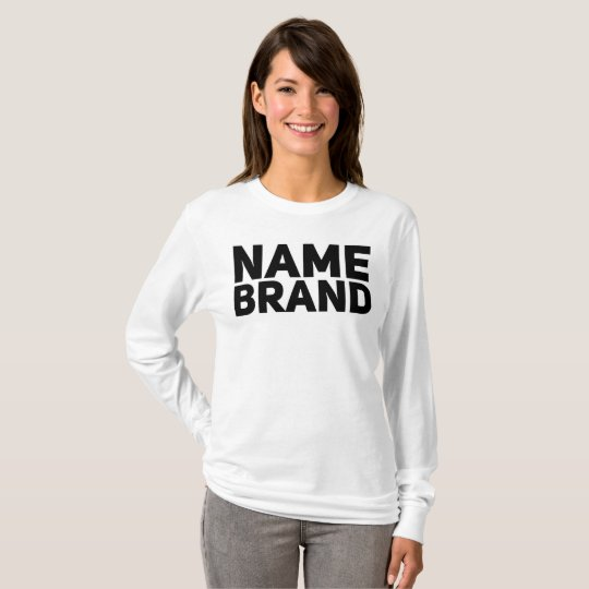 Name brand t shirt zazzle for Branded t shirts names