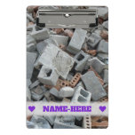 [ Thumbnail: Name + Bricks & Blocks Demolition Rubble Debris Clipboard ]