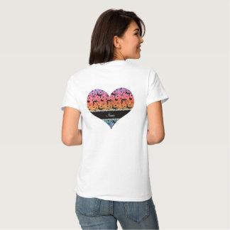 Name bright rainbow glitter wrestling hearts bows t-shirt