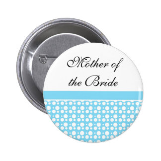 name button blue polka dots button