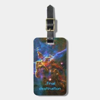 Name, Carina Nebula Mystic Mountains space image Bag Tag