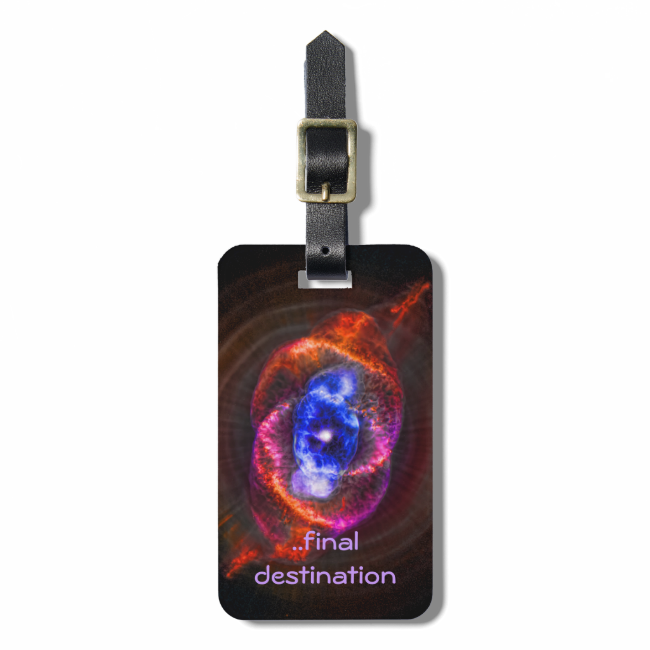 Name, Cats Eye Nebula, Eye of God outer space Tags For Bags