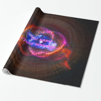 Name, Cats Eye Nebula, Eye of God outer space Gift Wrap Paper