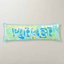 Name Change Body Pillow Name Collage Soft Pastels