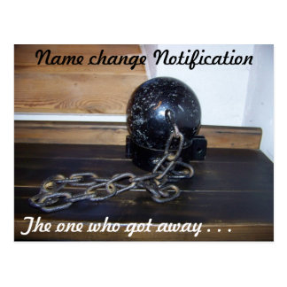 Name change Postcard