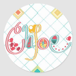 name Chloe Classic Round Sticker