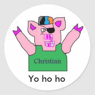 Name Christian pirate stickers