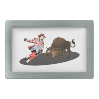 NAME: Clown and Bull 1-No-Text Belt Buckle