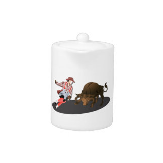 NAME: Clown and Bull 1-No-Text Teapot