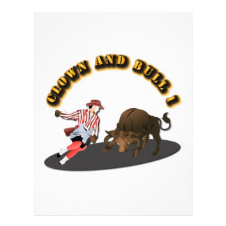 NAME: Clown and Bull 1-With-Text Letterhead